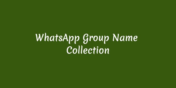 Best Whatsapp Group Names For Family, Friends, Lovers (New)