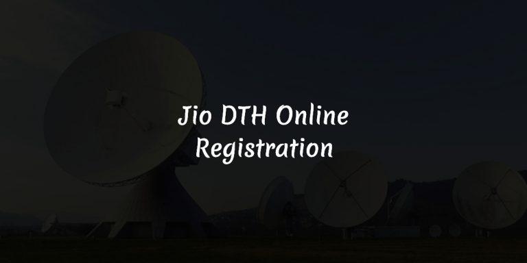 Jio DTH Online Registration Details 2018